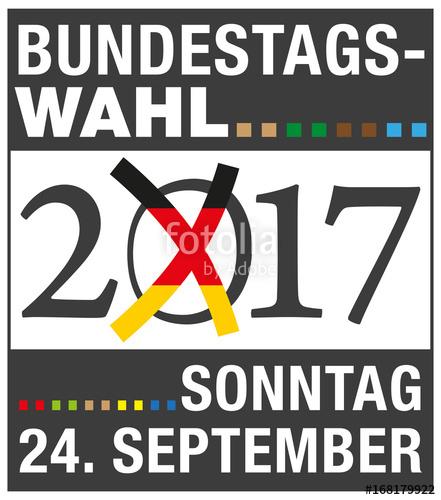 Bundestagswahl Poster